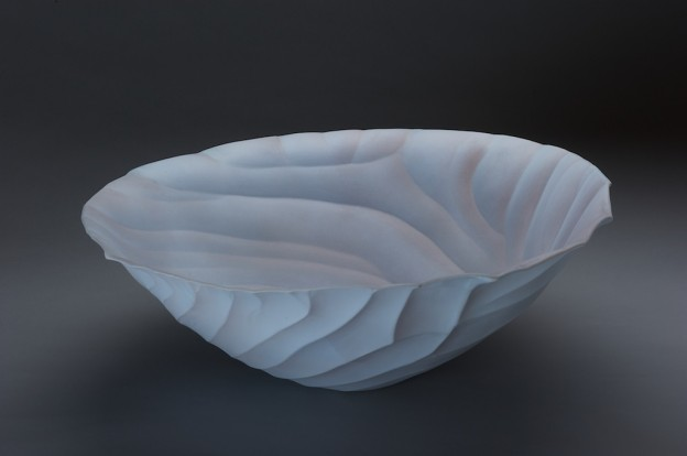 let the waves wash over me   6h x 16d x 16w in.   porcelain