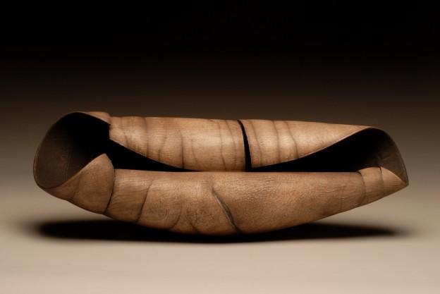 Chrysalis   7 x 19 x 7 in.   Collection: World Ceramic Museum, Korea 2009