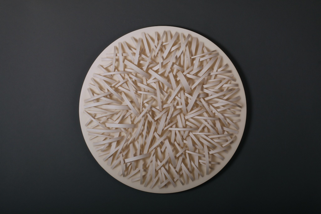 Peace Studies Tondo | 2013 | 24 x 24 in. | porcelain, aluminum