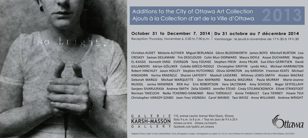2013 Additions to The City of Ottawa Art Collection